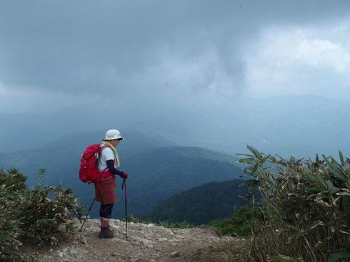 残念!! 白山・別山・三ノ峰は雲の中でした