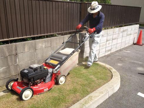出ました。エンジンタイプの芝刈り機