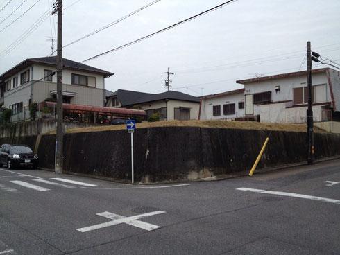日進市 ガレージデッキのある洋風外構 元々の敷地