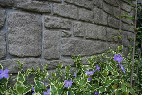 Tブロックで作った壁