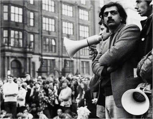Tariq Ali, London 1967 (Se video-interviewet med Tariq Ali , samt hans interview med John Lennon og Yoko Ono, nedenfor).