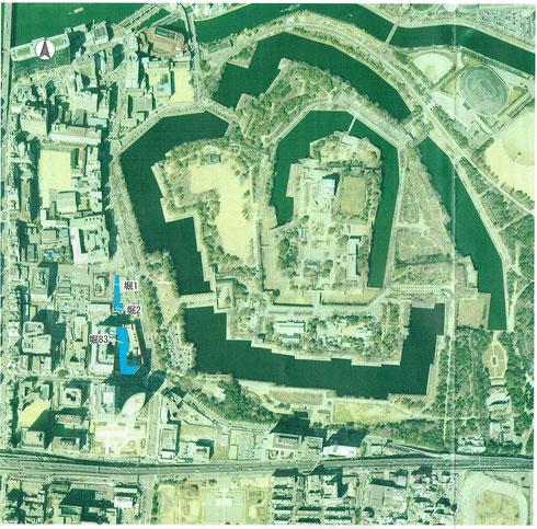 上の図の堀83の場所を、下の図03-1を、2003年冬に発掘調査した
