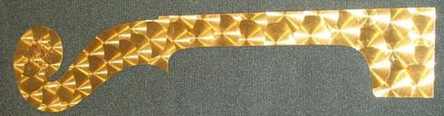 gabarit en cuivre pour manche modèle stradivarius