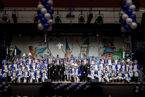 Die Prinzengarde auf ihrem Jubiläumsball am 26.01.2013