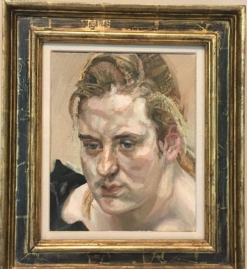 ルシアン・フロイド《スージー》1980年。フロイドの妹の肖像画。Wikipediaより