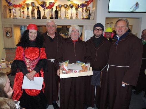 Die Sieger des Turniers: Der ESV Hetzendorf 2 mit Kraus Richard, Galavits Manfred, Jilka Günther und Fahrbach Andreas