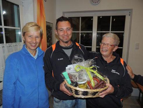 Sieger des Duoturnieres ESV Lafnitztal 2 mit Riedl Grete und Heidwagner Helmut