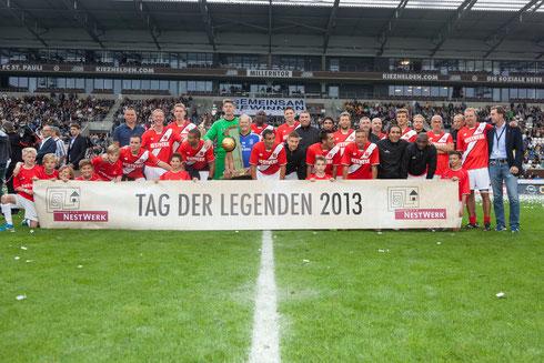 """""""Team Hamburg"""" gewinnt beim Tag der Legenden 2013 Foto: Wolfgang Rente"""