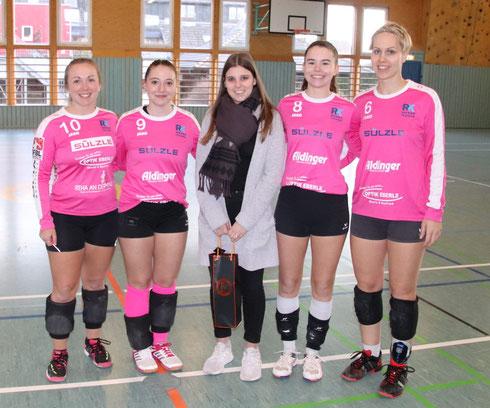 v.l.n.r.: Anna-Lisa Aldinger, Laura Schinko, Sabrina Winter, Elena Kull, Sonja Pfrommer