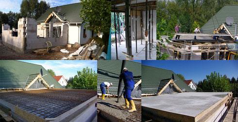 Mauerarbeiten, Schalungsarbeiten, Stahlbetondecke (Filigrandecke)