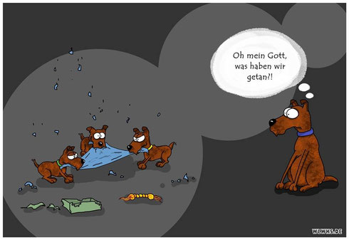 Cragars und Happys Babies sind da !!!!!   Cartoon by Svenja / www.wlwks.de