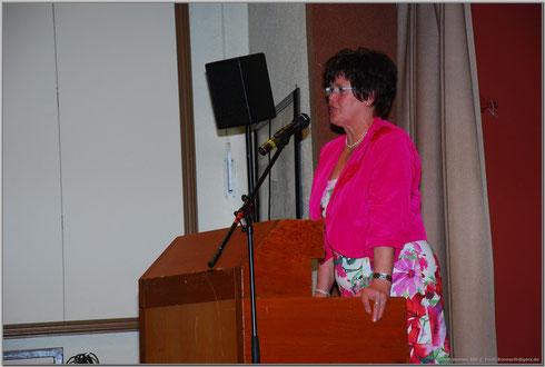 Die Vorsitzende bei ihrer Jubiläumsansprache