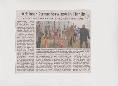 Streuobstwiese Idee von Achim nach China