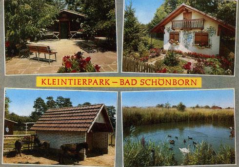 Alte Postkarte des Tierparks