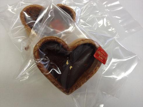 たてたに ハートのチョコクッキー
