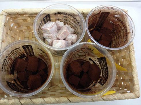 簸上堂 生チョコレート(唐辛子、山椒、柚子、さくら)
