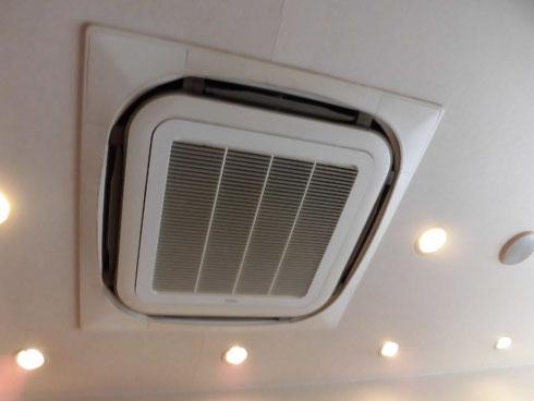 生駒市で天井埋め込みタイプのエアコンクリーニング