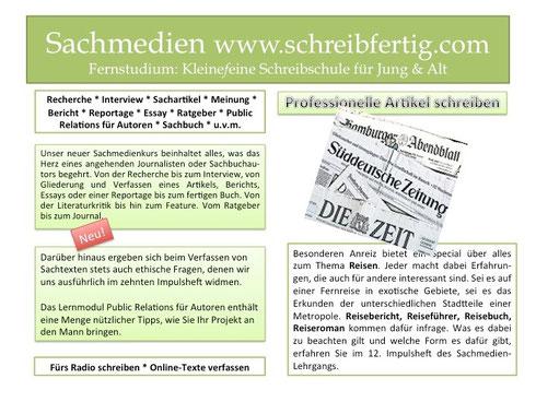 Sachbuch - Public Relations für AutorInnen - Online  - Texte verfassen - Artikel schreiben