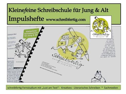 Schreibkurs Impulshefte www.schreibfertig.com