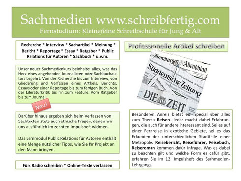 Fernstudium Sachmedien