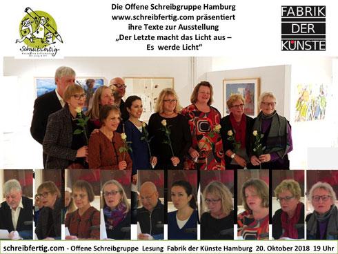 Lesung Kreatives Schreiben Hamburg