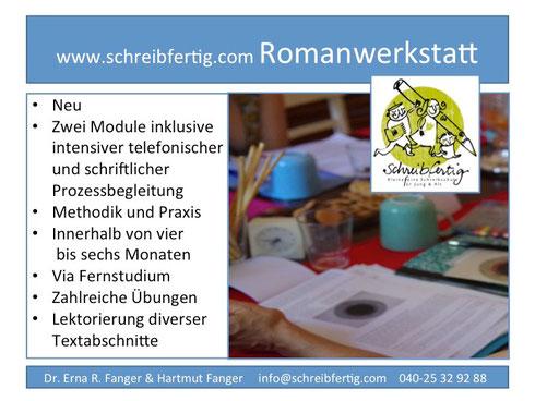 Schreibschule Romanwerkstatt Fernstudium
