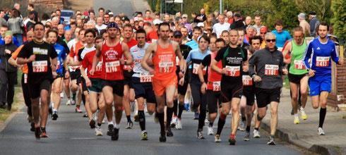 Start des 10 km Laufes