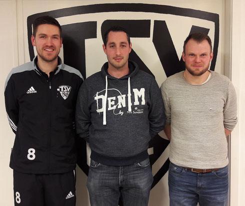25 Jahre im TSV: Dennis Bohr, Simon Stute und Hans-Christian Ohms (v. l.).