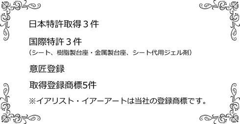 日本イアリスト協会特許