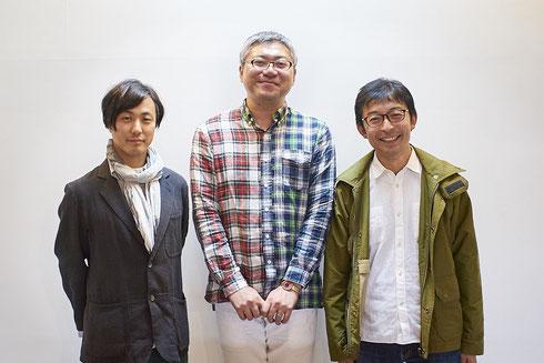 左から服部浩之先生、小松和彦さん、石倉敏明先生