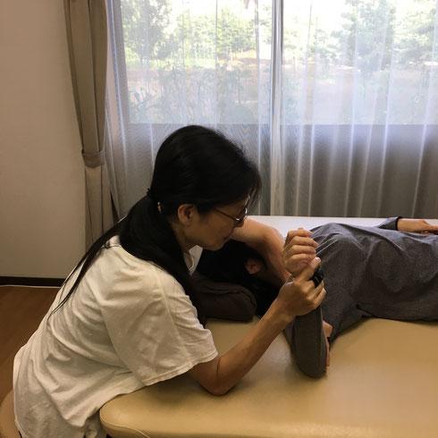 トリガーポイント療法の施術