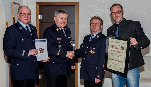 Ernennung zum Ehrenkommandanten der FF Trübenbach