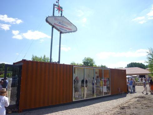 Modell-Container zur Besichtigung