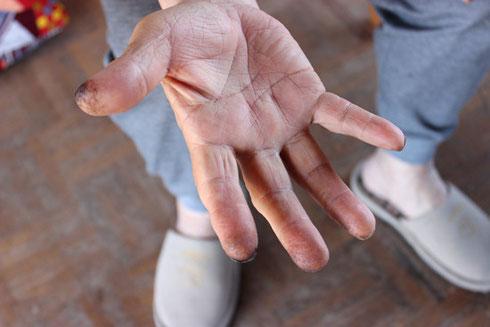 呂色師さんの手は魔法の手