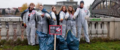 Hunderte Jugendgruppen sammeln Müll während Aktionswoche