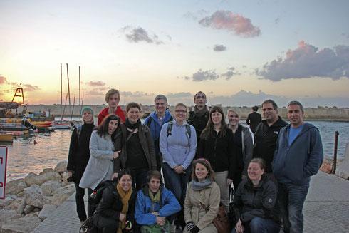 Sonnenuntergang im Hafen von Jaffa