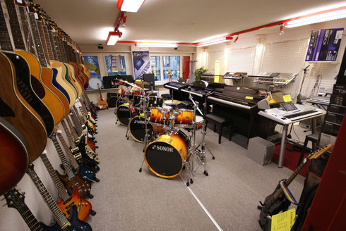 Musikinstrumenten Verkaufsabteilung