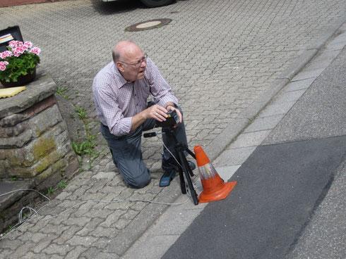 AMC-Zeitnehmer Jürgen Tuchner im Einsatz