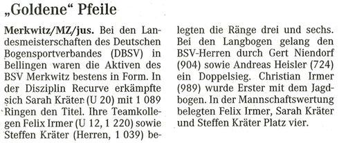 Artikel - LM/ DBSV in Bellingen 2007 - BSV Merkwitz