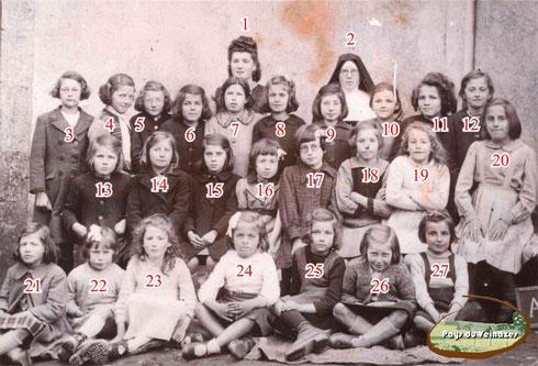 Photo de classe de l'école privée de Montsalvy (le couvent)