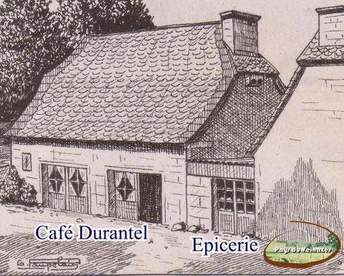 Le café et l'épicerie Durantel à Aubespeyre (Junhac) - G Paupelain