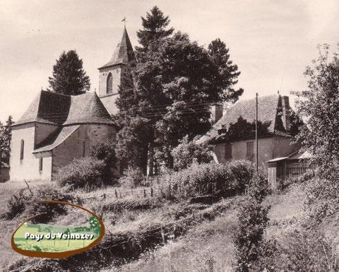 L'église et le presbytère d'Aubespeyre (Junhac)