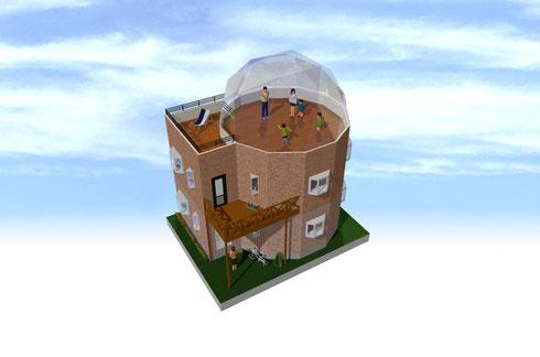 12角形ドーム屋根住宅 01