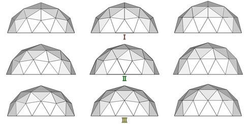 12角形ドーム ABC 正面 寸法