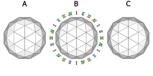 12角形ドーム ABC 平面
