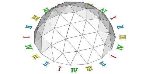 正15角形ドーム  俯瞰図01
