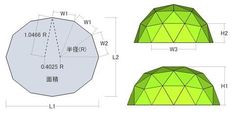 三角パネルの枚数 = 54枚