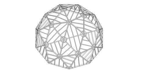 10角形ドーム (IA2V型) 3,500 R   ※ 合板と締結用ボルトは省略されています。