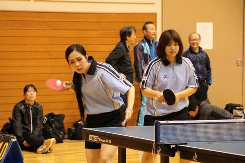 地元京田辺在住の元卓球少女たち。厳しい対戦相手だったが内容は思っていたよりは良かったのでは?