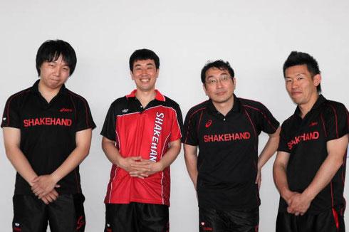 Aチーム3位入賞メンバー、左から小畑 田中 久保 塚脇。